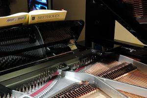 Rear of the Omega's music desk